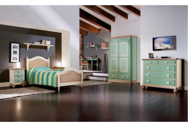 Dormitor Copii Verde Mobilier Clasic